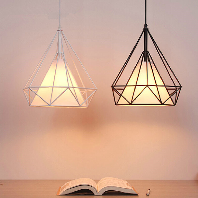 20cm Vintage Industrial Rustic Flush Mount Ceiling Light Black / White Metal Lamp Fixture Nordic Style Creative Retro Light Lamp