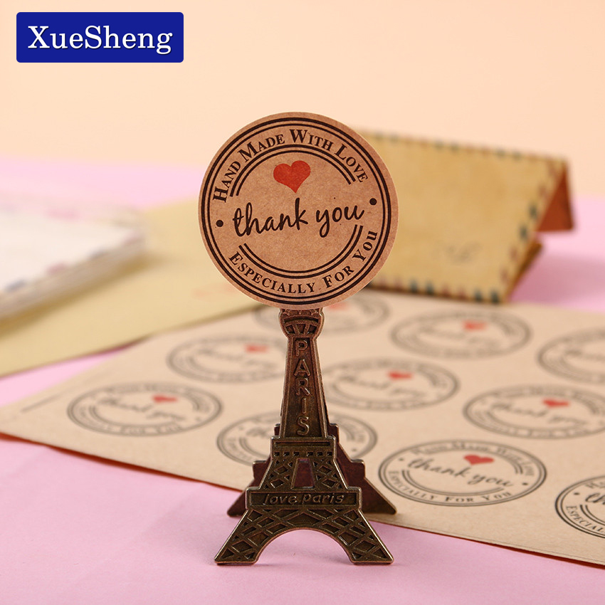 120 PCS Red Thank You Love Self Adhesive Stickers Kraft Label Sticker Diameter 3cm For Diy Hand Made Gift Cake Candy Paper Tags домкрат kraft кт 800026