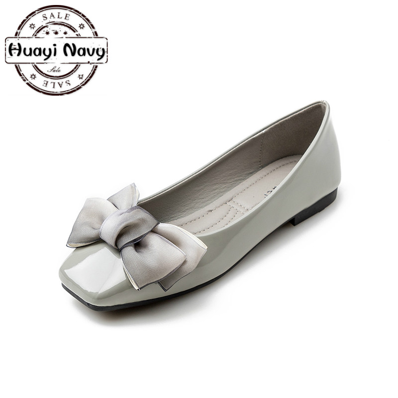 Ladies Ballet Flats Women Flat Shoes Female Square Toe Black Red Gray Patent Leather Comfortable Casual Creepers Plus Size 35-41 schleich фигурка эльфийский пегас жеребенок