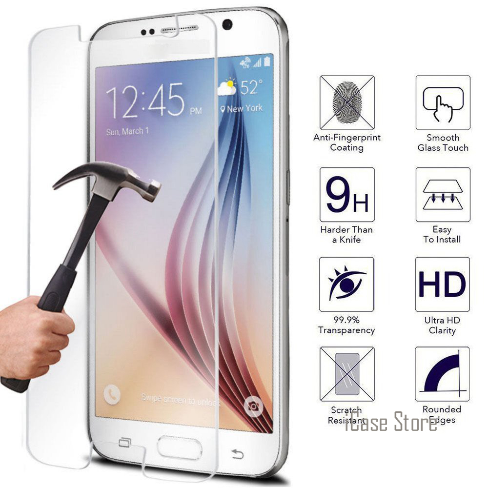 Tempered Glass Premium Screen Protector For Samsung Galaxy S3 S4 S5 S6 J2 Prime J3 J5 J7 2016 Grand Prime + Protective Film