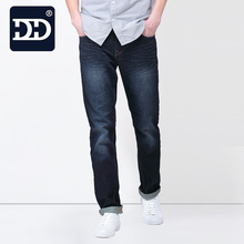 DD Berühmte Jeansmarke Fabrik Jeans Männer Baumwolle Gerade Beiläufige schwarze Jeans Männer Qualität Herren Schwarz Blau Jeans Frühling Herbst hosen