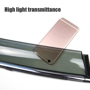 Image 3 - MCrea ABS 4pcs Car Styling Smoke Window Sun Rain Visor Deflectors Guard For Mazda CX 7 2010 2011 2012 Accessories