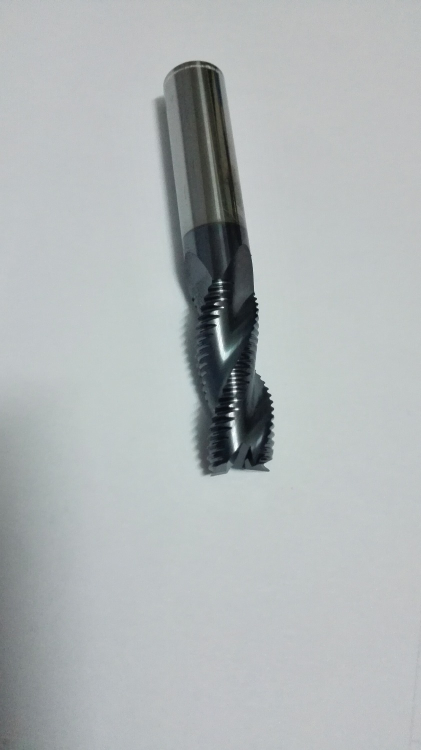 цены 1pc 14mm hrc45 D14*45*D14*135 3Flutes Roughing End Mills Spiral Bit Milling Tools Carbide CNC Endmill Router bits