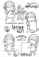 girl Transparent Clear Silicone Stamp/Seal for DIY scrapbooking/photo album Decorative clear stamp sheets A1264