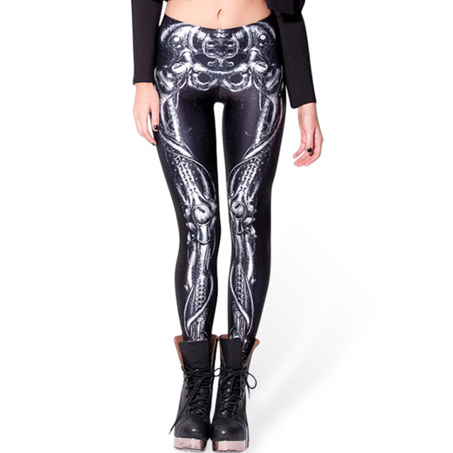 d5ddd71cd02c2 Brand New BARBARIAN Skull Women Leggings Printed Leggins Woman Pants ...