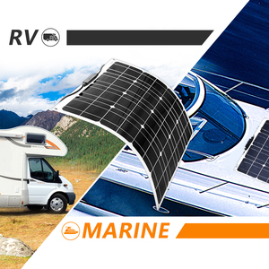 Image 5 - Flexible Solar panel 200w 100w 50w 12v Solar Charger Home System for Car RV Boat Caravan 1000w PV Module 540*530*3mm Waterproof