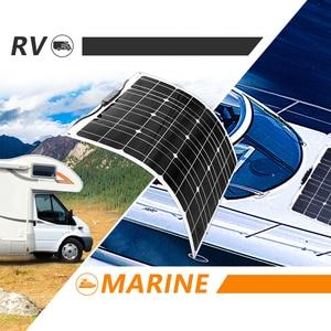 Image 5 - Panneau solaire Flexible 200w 100w 50w 12v chargeur solaire système à la maison pour voiture RV bateau caravane 1000w PV Module 540*530*3mm étanche