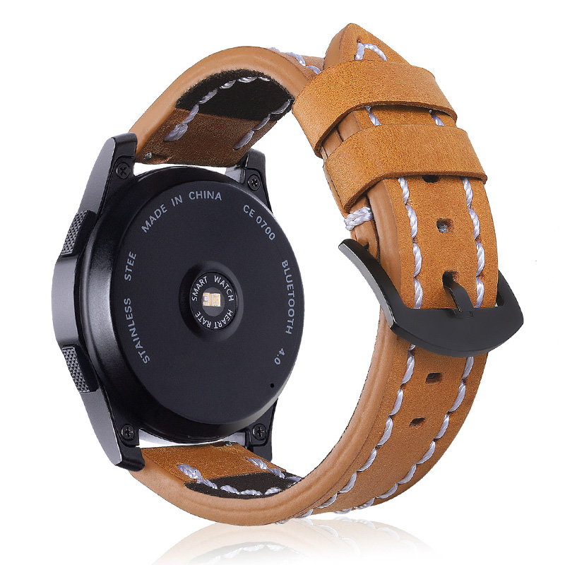Laforuta Gear S3 Frontier Strap For Samsung Galaxy Watch 46mm S 3 Slassic 22mm Leather Band Wrist Bracelet Retro Vintage Belt in Watchbands from Watches