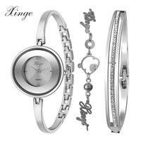 Xinge מותג נשים שעונים צמיד חיה מקסים עמיד מים יוקרה אופנה סט תכשיטי נשים שמלה שעוני יד שעון נשי