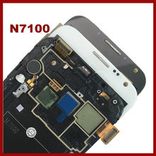 With Frame N7100 LCD For SAMSUNG Galaxy Note 2 N7100 Note2 LCD Super AMOLED Tested Display Screen Touch Digitizer Assembly(China)