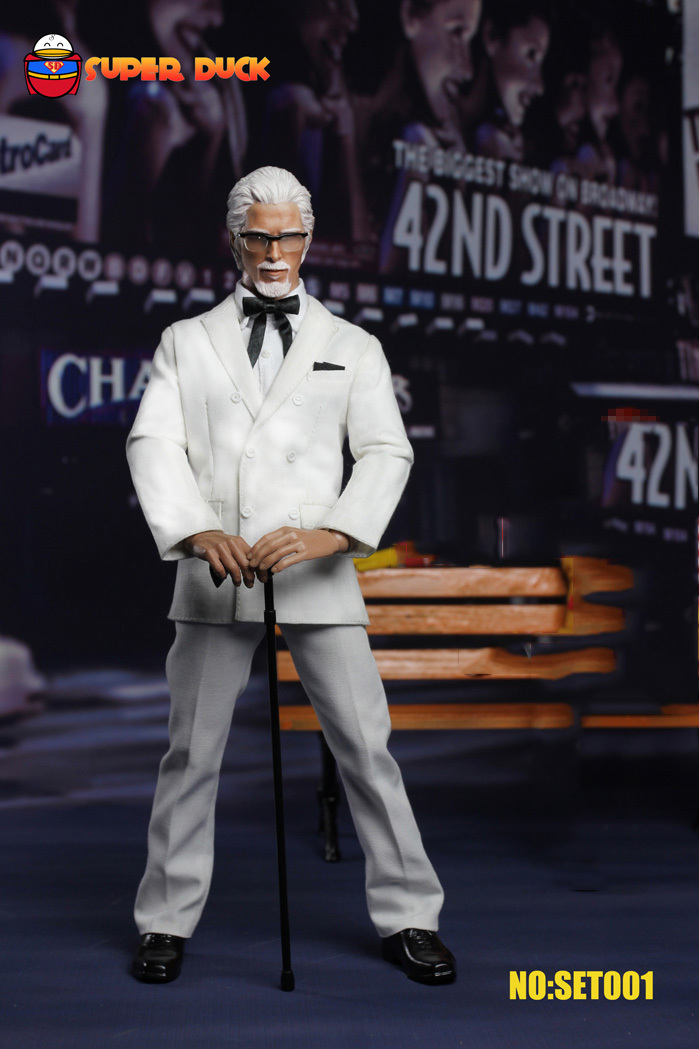 1/6 scale doll model Fried chicken Grandpa white hair Christian Bale.12 action figure doll.Collectible Figure toy.No boxes my grandpa