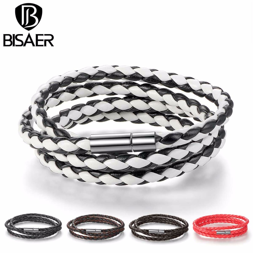 6 Colors Fashion Leather Bracelet Men Warp Bracelets for Men Femme Bracelet Wristband Rope Bracelet Men Jewelry Unisex GP0063