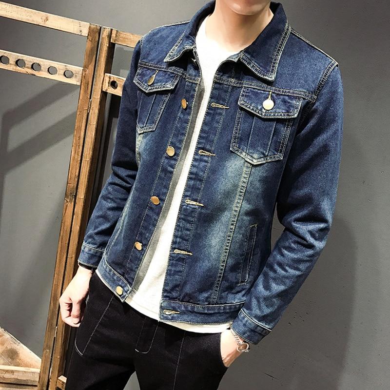 2017 nueva chaqueta de mezclilla de moda para Hombre