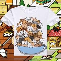 New-Game-Neko-Atsume-Cartoon-Cat-Cotton-T-shirt-Short-Sleeve-O-Neck-T-shirt-for-WomenStudent-Summer-Clothes-Top-Tees-S-4XL-1