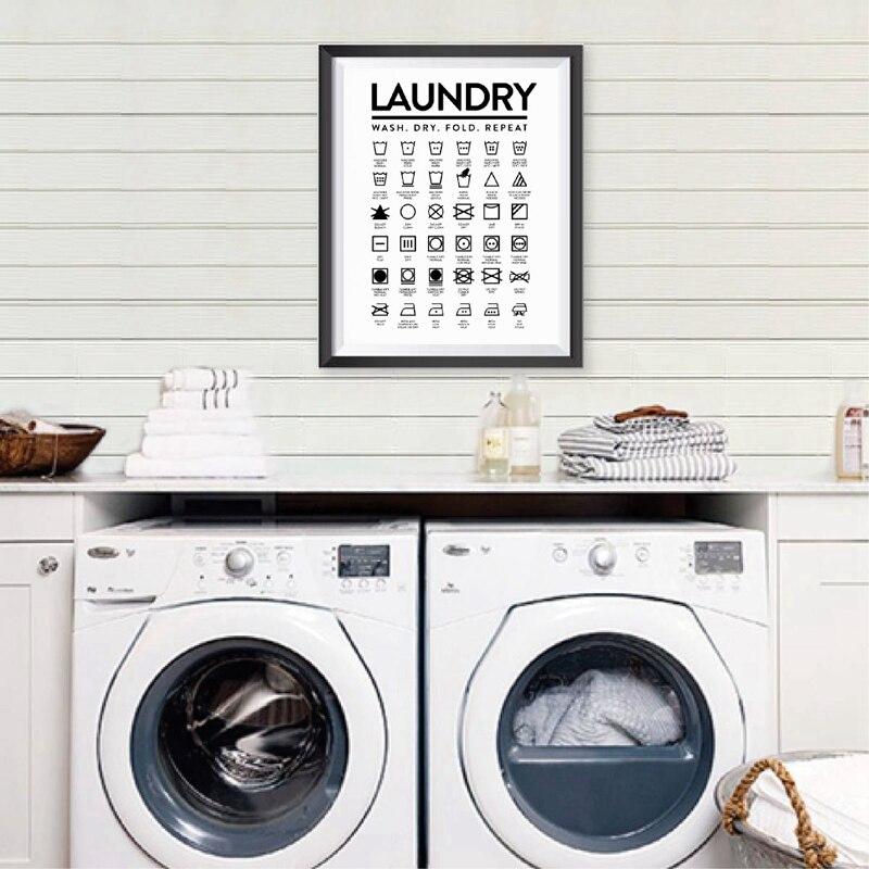 Laundry icons Painting Laundry Decor