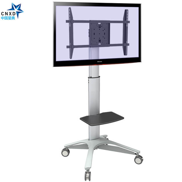 Carrelli Porta Tv Led.Movable Floor Tv Carts Tv Stand Bracket Adjustable Height Swivel