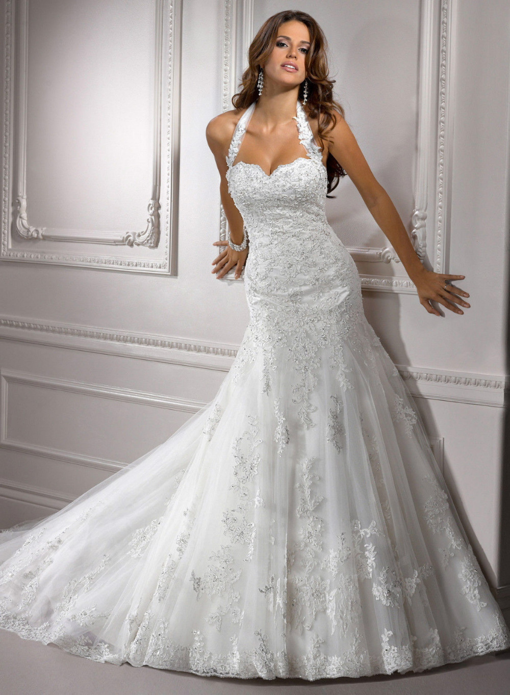 aliexpresscom buy 2015 new white ivory mermaid lace wedding dress custom size 6 8 10 12 14 16 18 from reliable custom t shirt dresses suppliers on