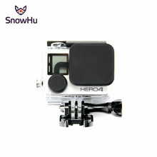 SnowHu For Go Pro Accessories Action Camera Case Protective Silicone Case Skin Cover For GoPro Hero 4 3 3+ Hero Camera GP118 bz112 silicone case for gopro hero 3 3 remote controller navy blue