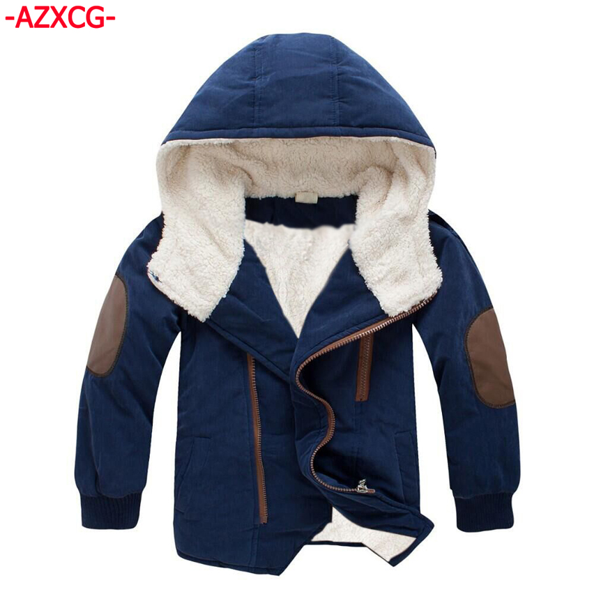 Boys Winter Coat Boy Cotton Clothing Kids Thickening Jacket Children Plus Velvet Hooded Clothes Infant Boys Outerwear цена