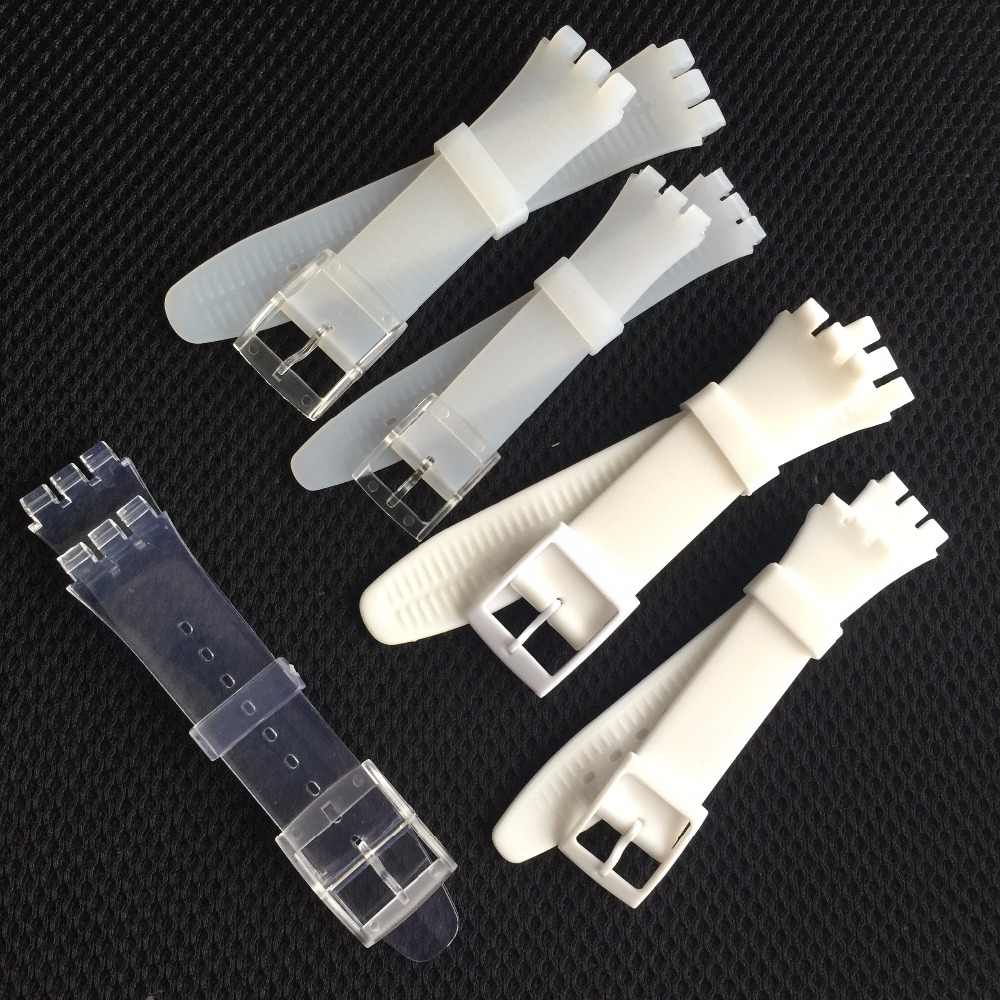 17mm 19mm 20mm Ultra-thin Soft Silicone Transparent Watch Bands Bracelets for Swatch Skin Series Strap Women Men