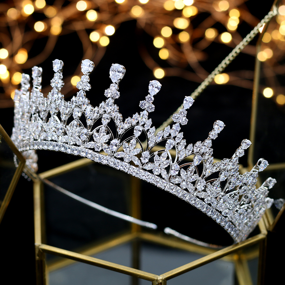 Image 4 - High quality crystal crown girl birthday graduation ceremony crown bride wedding hair accessories headdress Tiaras-in Hair Jewelry from Jewelry & Accessories