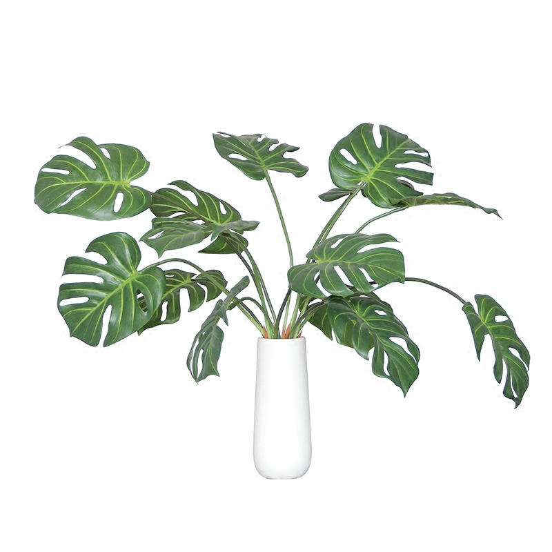 New Style - Monstera Leaves 5pcs Tropical Split Philo Leaf Table Decoration Flower Arrangment Artificial Branches Free Shipping