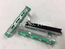 [SA]Taiwan  6cm 60mm  sliding straight double- A20K 20MM potentiometer shaft–10PCS/LOT