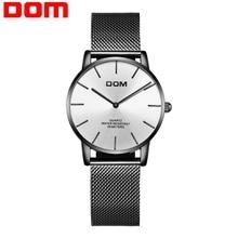 hot deal buy dom watch women watches ladies creative stainless steel women's bracelet watches female waterproof clock montre femme g-36bk-7mt