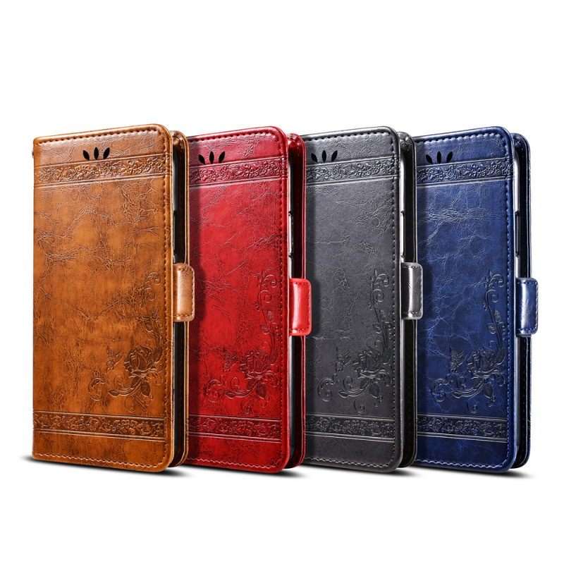 Image 5 - For Highscreen Easy L Pro Case Vintage Flower PU Leather Wallet Flip Cover Coque Case For Highscreen Easy L Pro Case-in Wallet Cases from Cellphones & Telecommunications