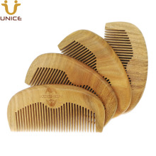 50 pcs/lot New Arrival Top Quality Natural Green Sandalwood Comb Customized LOGO Beard Combs Hair Custom Wooden