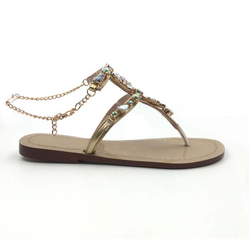 c6bbdcc4bf1f2 women sandals rhinestone sexy gladiator ladies flat sandals crystal women  summer shoes woman slip on best quality  Y0614128Q-in Women s Sandals from  Shoes ...