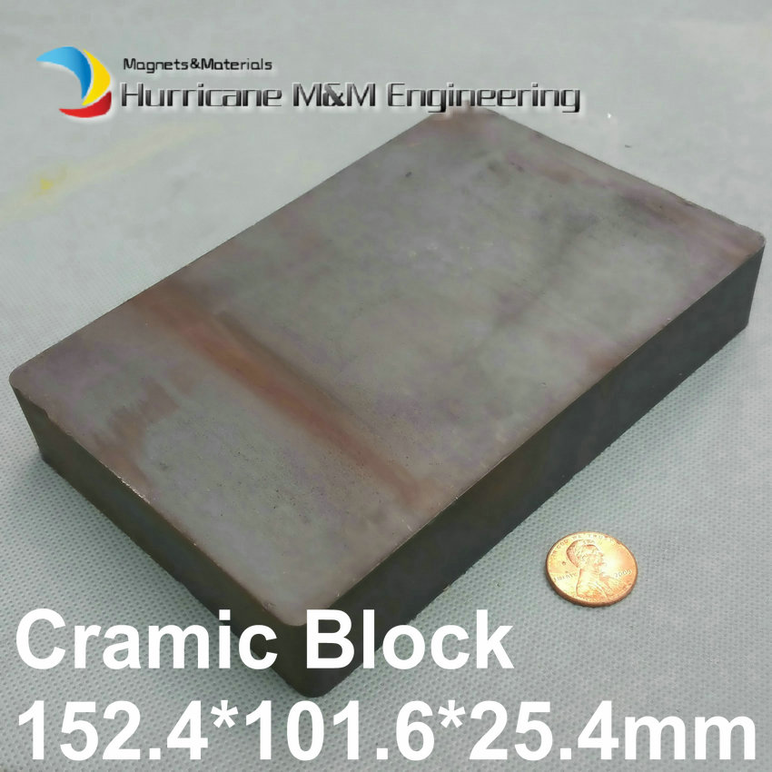 2 pcs Ceramic Blocks 152.4x101.6x25.4 mm Strong Barium Ferrite 6*4*1 Permanent Magnets Large Size Rectangular Magnet 12 x 1 5mm ferrite magnet discs black 20 pcs