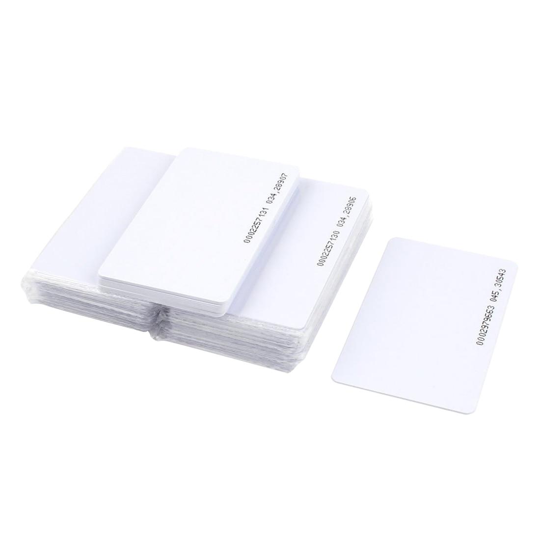 MOOL 50 pieces Intelligent Proximity EM4100 125kHz RFID Proximity Card Entry Empty ID Access turck proximity switch bi2 g12sk an6x
