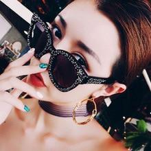 Danbihuabi Diamant Crystal Star lunettes de Soleil Pour Femmes Carré Marque  Lunettes Designer Femme Shades UV400 Mode Cateye Sol. 7c381ba44685