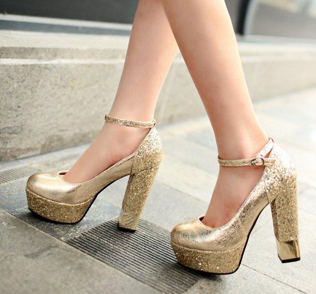 Aliexpress.com : Buy 2015 Size 34 39 N1387 12CM Women Sexy Gold