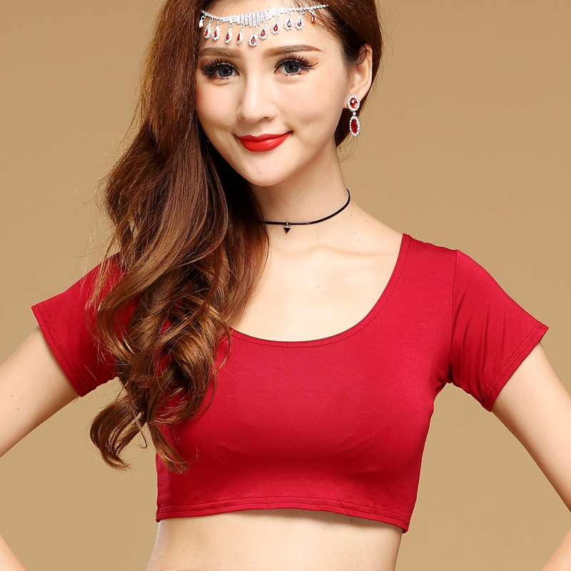 New Modal Belly Dance Top Costumes Short Sleeves Belly Dance Tops For Women Belly Dance Top S M L XL XXL