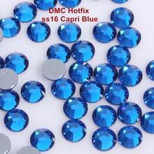 1440 шт./лот, ss16(3,8-4,0 мм) Высокое качество DMC Капри синие железные Стразы/стразы горячей фиксации