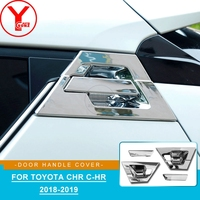 YCSUNZ chrome rear door handle insert For toyota chr 2018 2019 accessories car door handle protector parts for toyota c hr 2019