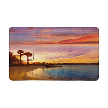 Alcudia Majorca at Sunset on The Beach Mallorca Balearic Islands Anti-Slip Door Mat Home Decor, Personalized Doormat image
