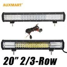 """2-Row 5D 20 """"210 w/3-Row 270 w Inundación Del Punto de Haz Combo LED Light Bar Offroad 12 V 24 V Camión ATV RZR UTV Remolque Camper Van Wagon"""