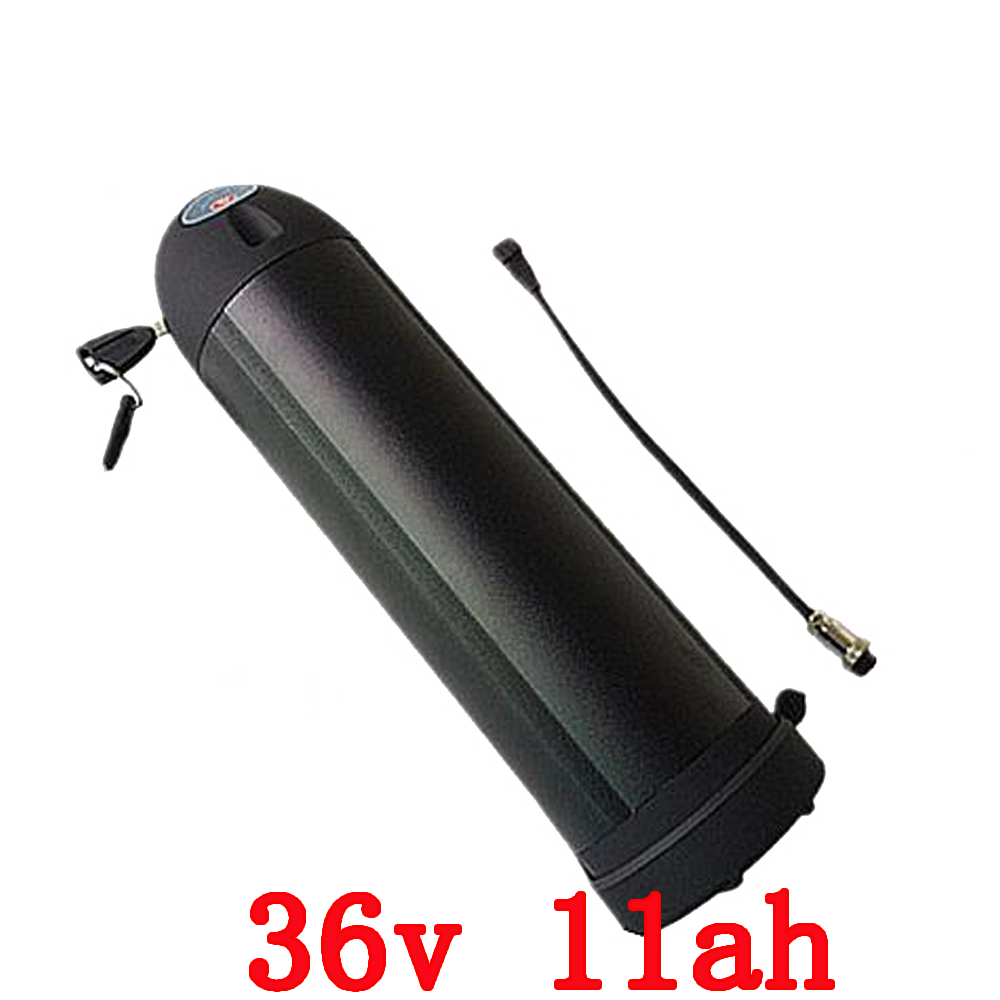Free customs duty 36V 11Ah  lithium ion Bottle ebike battery pack with charger fit 250W 350W 500W bafang BBS02 motor free shipping customs duty hailong battery 48v 10ah lithium ion battery pack 48 volts battery for electric bike with charger