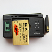 2 Pcs BL 5C Battery 1020mAh 1 Usb LCD Display Universal AC Battery Charger For Nokia