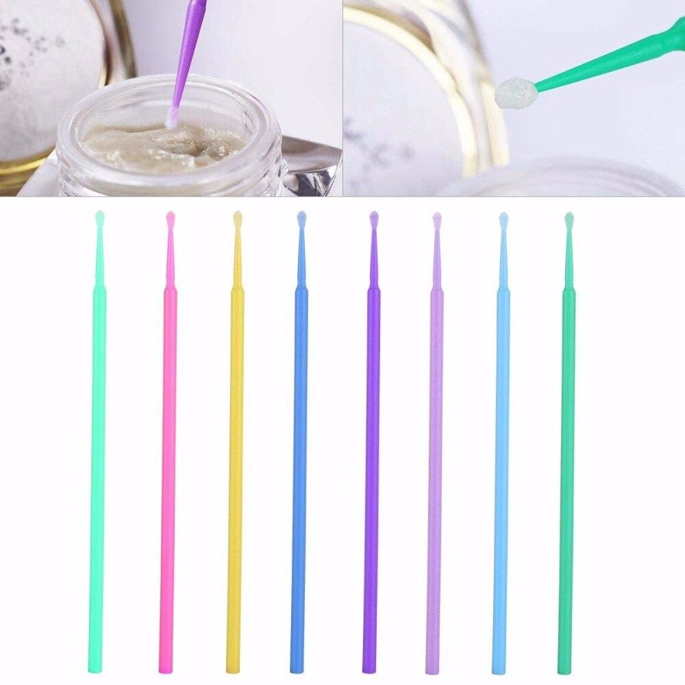 100 Pcs Eyelash Brushes Dental Micro Brushes Disposable Materials Eyelashes Mascara Wands Applicators Medium Fine Makeup Tools 1