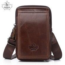Hakiki deri kemer çantası küçük telefon çantaları adam 2019 bel çantası s çapraz çapraz deri bel paketleri erkek çanta moda Flap ZZNICK