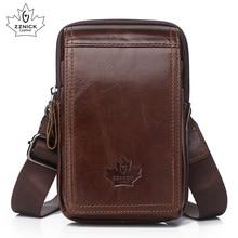 genuine leather belt bag small phone bags man 2019 belt bags diagonal cross leather waist packs mens bag Fashion Flap ZZNICK