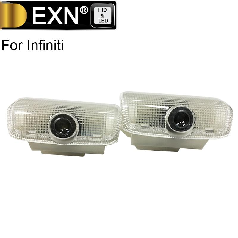 LED Car Door Logo Light 5W LED Shadow Projector Courtesy Laser Logo Lamp For Infiniti FX G Series Q50L Q50 Q60 Q70 Courtesy Lamp
