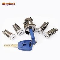Okeytech SIP22 Blade Lgnition Lock Set Sleutel Voor Fiat Auto Frezen Lock Originele Auto Gemodificeerde Auto Deur Cilinder Autosleutel Kofferbak Slot
