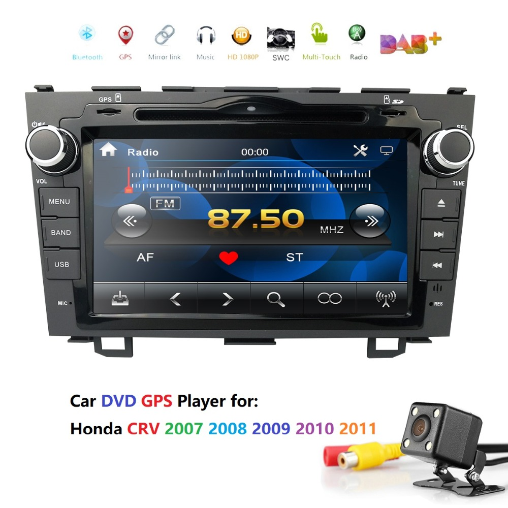 8 Inch Car Stereo DVD Player Radio For HONDA CRV 2007-2011 GPS Navigation Subwoofer output DAB+ RDS Free Map card+ back camera8 Inch Car Stereo DVD Player Radio For HONDA CRV 2007-2011 GPS Navigation Subwoofer output DAB+ RDS Free Map card+ back camera