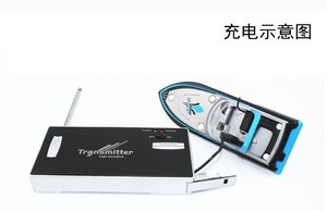 Image 3 - Brand New RC Boat Barco RC 777 218 Remote Control Mini RC Racing a Boat Model Speedboat with Kid Gift FSWB
