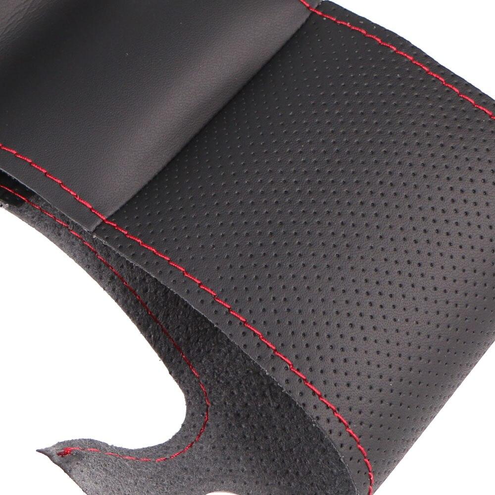 Image 3 - Artificial Leather car steering wheel braid for  Mazda 3 Axela  Mazda 6 Atenza 2014 2017 Mazda 2 2015/Custom made Steering cover-in Steering Covers from Automobiles & Motorcycles